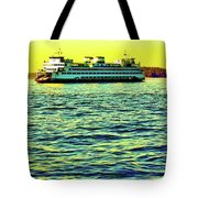 Sunset Cruise On The Ferry Tote Bag