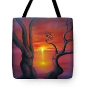 Sunset Dance Fantasy Oil Painting Tote Bag