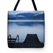 Sunset Dock At Priest Lake Tote Bag