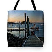 Sunset Dock Tote Bag