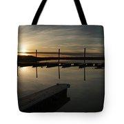 Sunset Docks Tote Bag