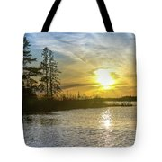 Sunset Dollarville Flooding Newberry Michigan -0243 Tote Bag