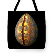 Sunset Egg With Concentric Circles Tote Bag