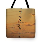 Sunset Falcons Stack Formation Tote Bag