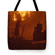 Sunset Female Amish Farmer Tote Bag