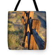 Sunset Fence Tote Bag