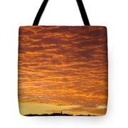 Sunset Fiery Orange Sunset Art Prints Sky Clouds Giclee Baslee Troutman Tote Bag
