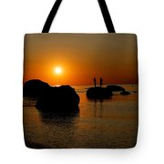 Sunset Fishing Tote Bag