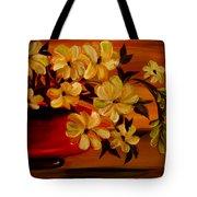 Sunset Floral Tote Bag