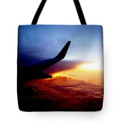 Sunset Flying Tote Bag