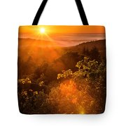Sunset Fog Over The Pacific #2 Tote Bag