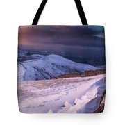 Sunset Following The Mourne Wall Tote Bag