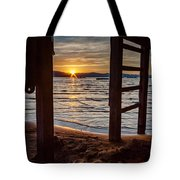 Sunset From Beneath The Pier Tote Bag
