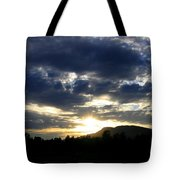 Sunset From Mcarthur Island Tote Bag