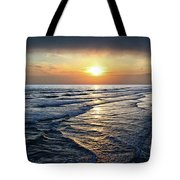 Sunset From Newport Beach Pier Tote Bag