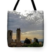 Sunset From San Gimignano Tote Bag