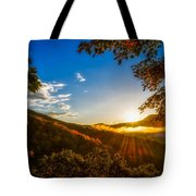 Sunset From The Blue Ridge Parkway Tote Bag