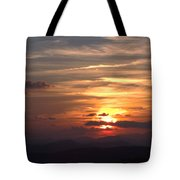 Sunset From The Blue Ridge Parkway Ll Tote Bag