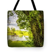 Sunset Gazebo Tote Bag