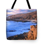 Sunset Glow Along Pacific Coast Tote Bag