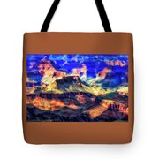 Sunset Glow At Mather Point Tote Bag