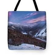 Sunset Glow Over Cannon Mountain Tote Bag