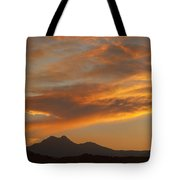 Sunset Glow Over The Twin Peaks Tote Bag