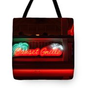 Sunset Grille Tote Bag