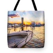 Sunset Harbor Tote Bag