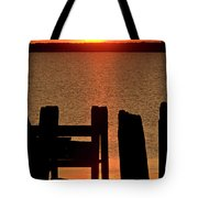 Sunset Hecla Island Manitoba Canada Tote Bag