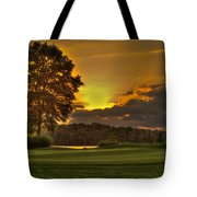 Sunset Hole In One The Landing Tote Bag