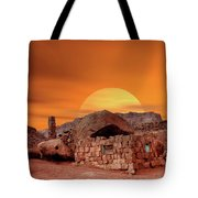 Sunset House Tote Bag