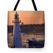 Sunset Hues Cockle Bay Wharf Tote Bag