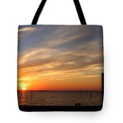 Sunset Huntingon Park Tote Bag