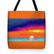 Sunset In Abstract  Tote Bag