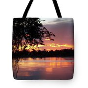 Sunset In Africa Tote Bag