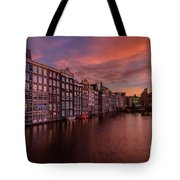 Sunset In Amsterdam Tote Bag