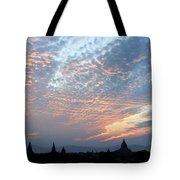 Sunset In Bagan Tote Bag