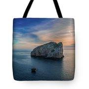 Sunset In Capo Caccia Tote Bag