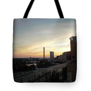 Sunset In Cleveland Tote Bag