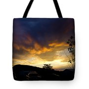 sunset in Cody wy Tote Bag