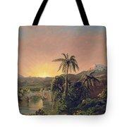 Sunset In Equador Tote Bag