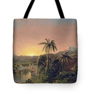 Sunset In Equador Tote Bag