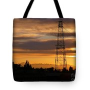 Sunset In Fremont Tote Bag