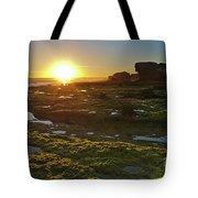 Sunset In Gale Beach. Albufeira, Portugal Tote Bag