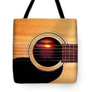 Sunset In Guitar Tote Bag