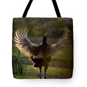 Sunset In His Wings Tote Bag