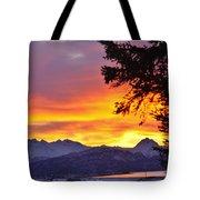 Sunset In Homer Alaska Tote Bag