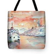 Sunset In Istanbul... Tote Bag