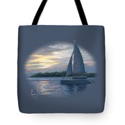 Sunset In Key West Tote Bag by Lucie Bilodeau